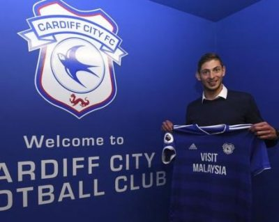 Cardiff City's Striker, Emiliano Sala Feared Dead After His Plane Vanishes