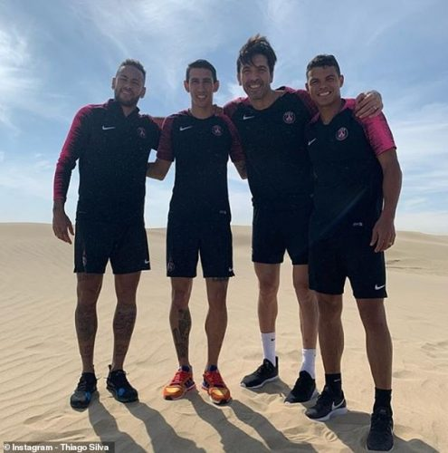 PSG's star players have travelled to Qatar for a four-day winter training camp in the sun