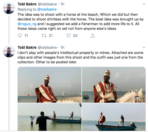 "Tobi Bakre Called Out For ""Stealing"" Ideas"