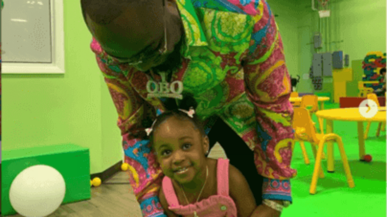 Watch Davido Dress As A Shark For His Daughter's Birthday Party In America